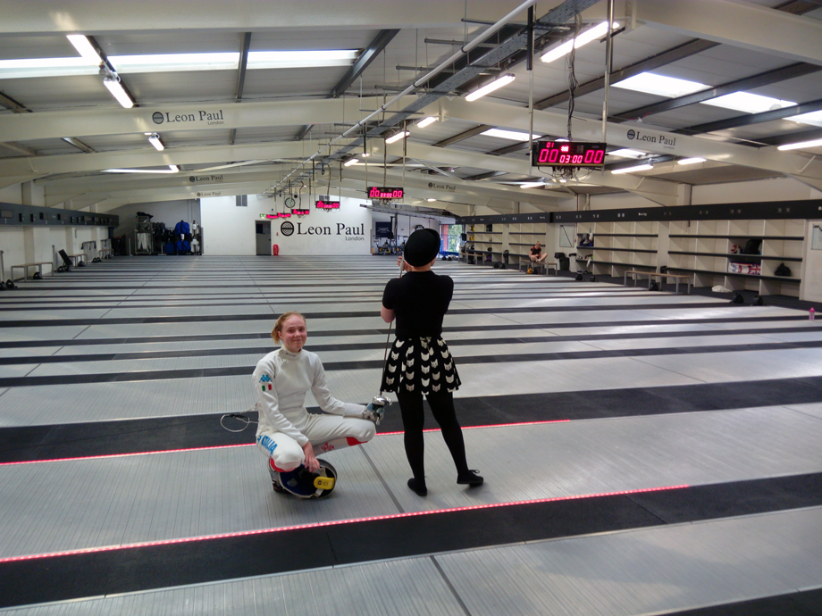 20 agosto - Londra Leon Paul Summer Epee Open Susan con Sarah Stacey (foto V.Sica)