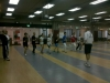 I Maestri e gli allievi in una sessione di gambe scherma