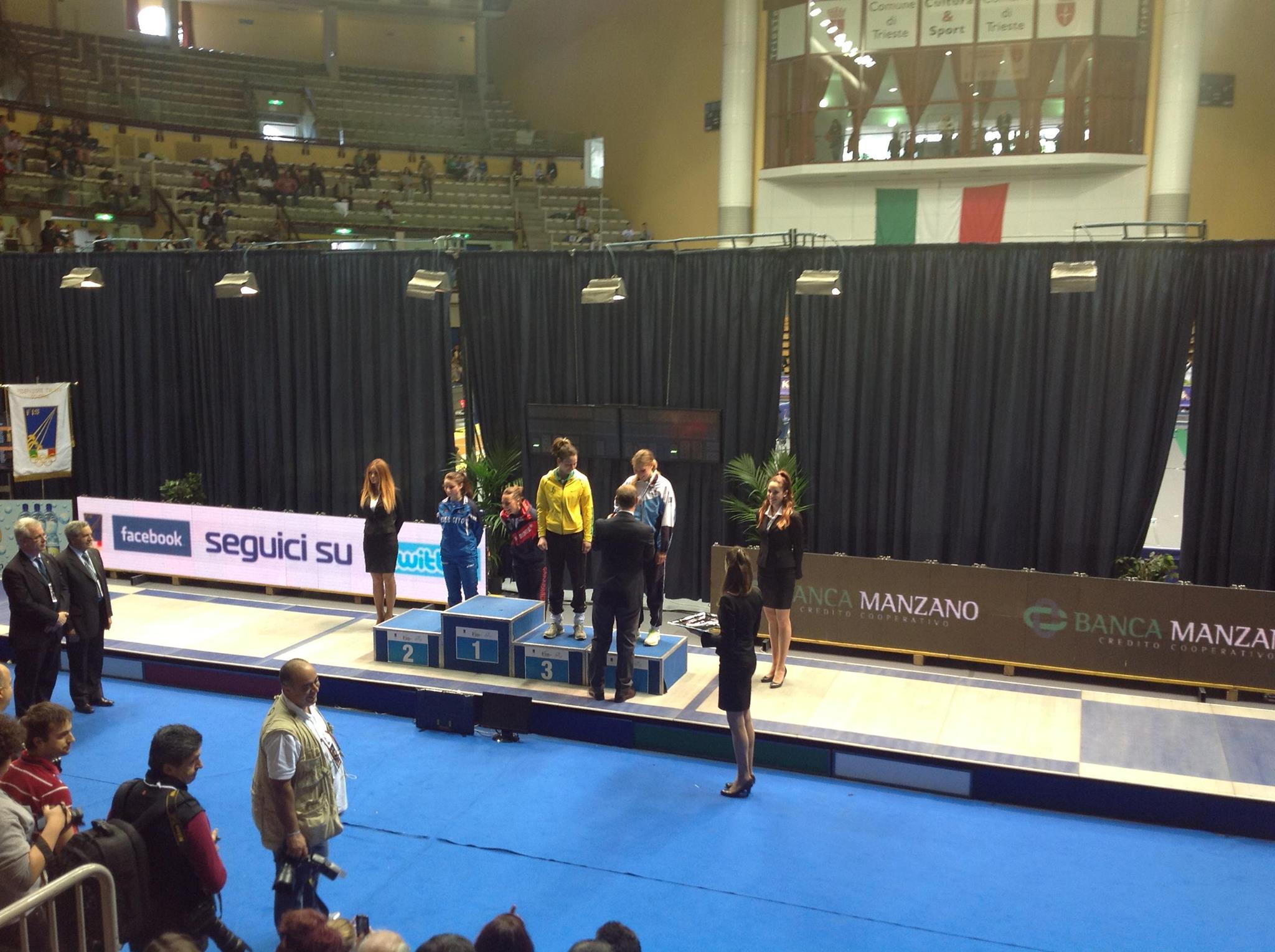 3° posto per Sofia Ciaraglia ai Campionati Italiani Assoluti di Trieste