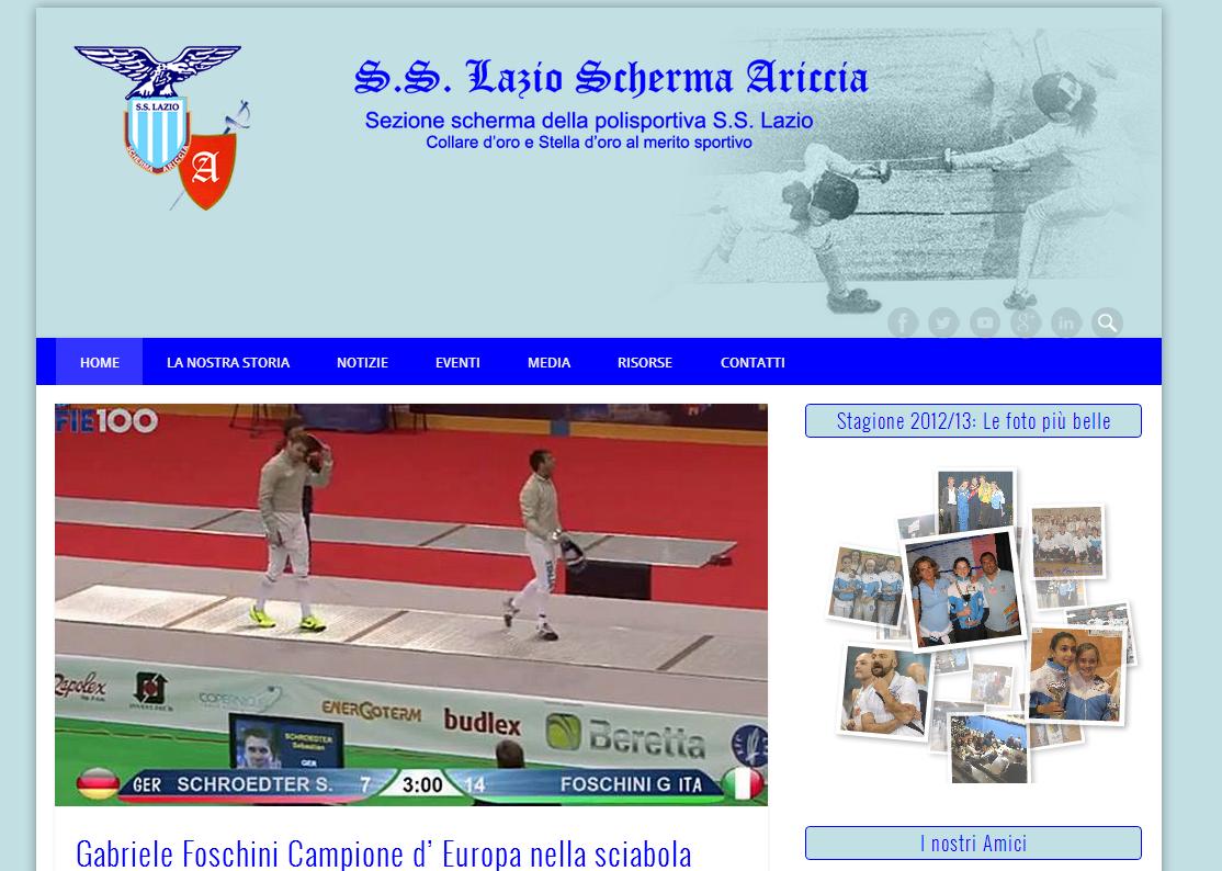 Nuova Grafica e Nuovi Contenuti: Benvenuti sul nuovo sito della S.S. Lazio Scherma Ariccia