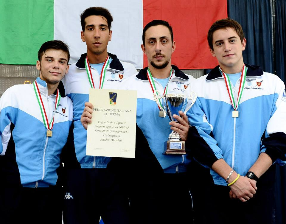 ORO nella Coppa Italia di sciabola a squadre 2013