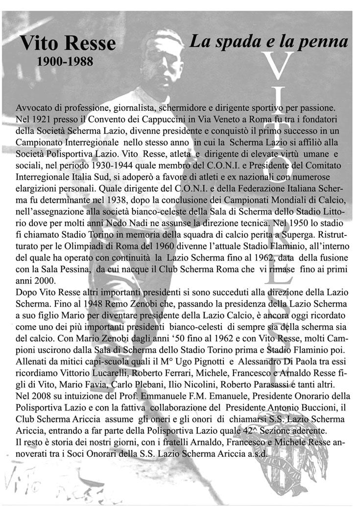 1° Memorial Vito Resse!