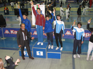 Ester Fragiotta 3^ classificata e Giulia Giannattasio 5^ nella categoria allieve di spada femminile.