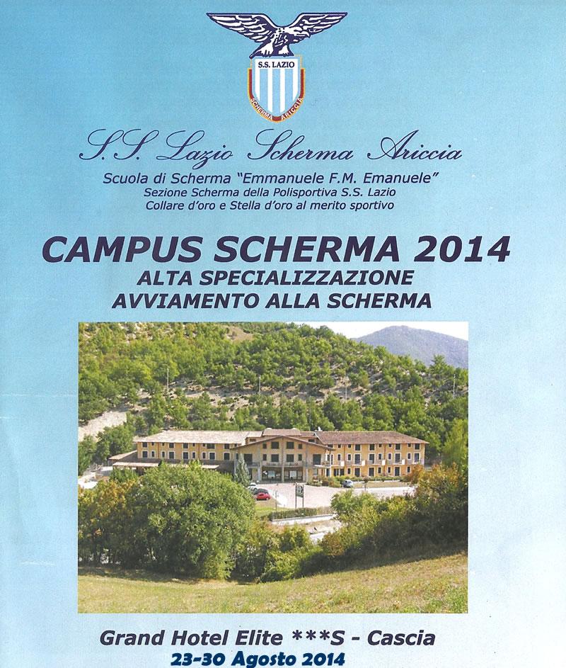 Campus scherma 2014.Cascia