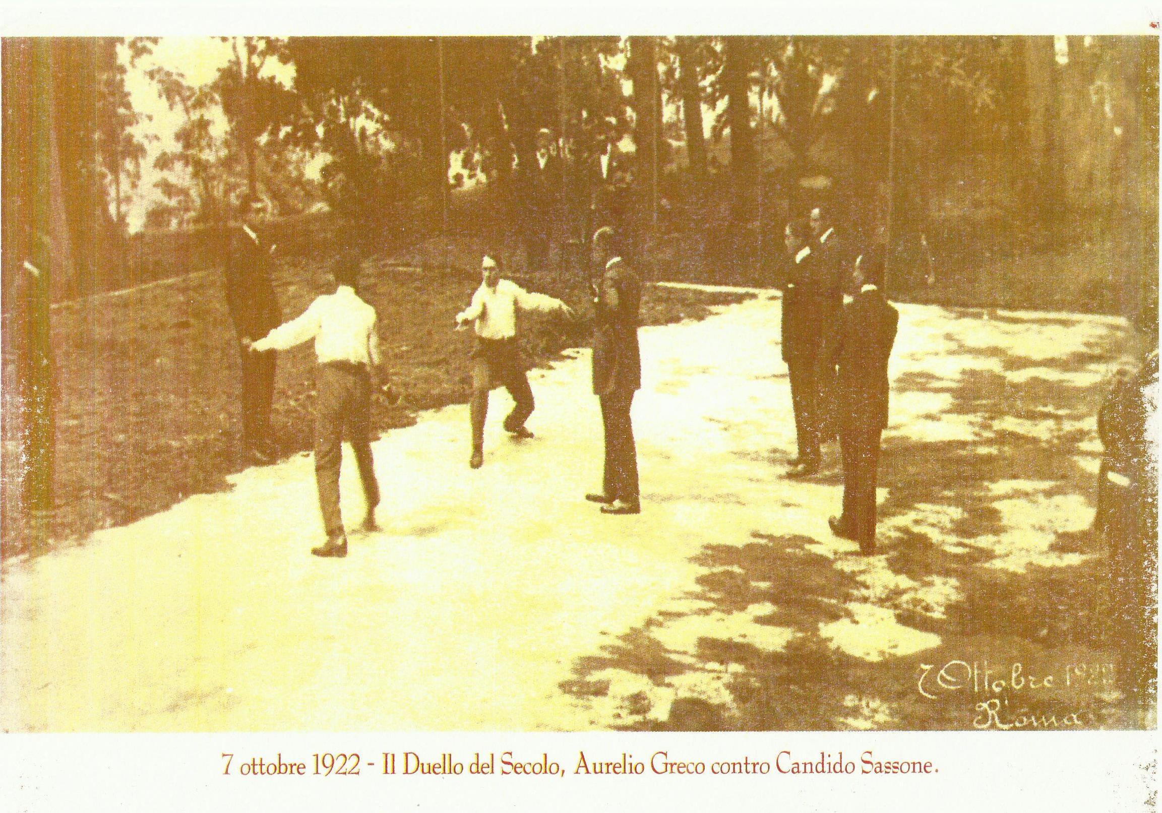 DUELLO GRECO – SASSONE: STORIA D'UNA SINGOLAR TENZONE