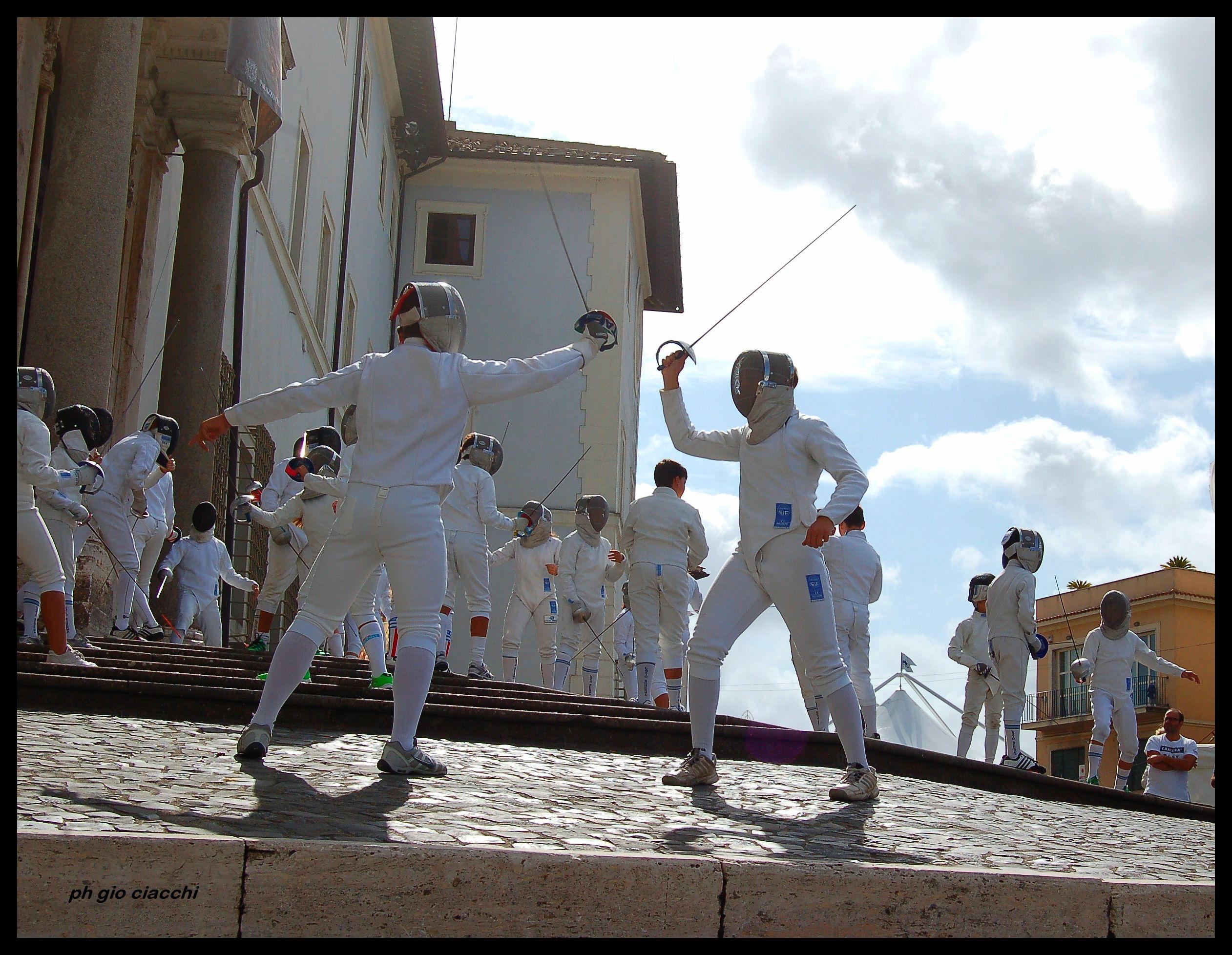 Ariccia #Fencingmob15 … ecco il flashmob della Lazio Scherma!!!