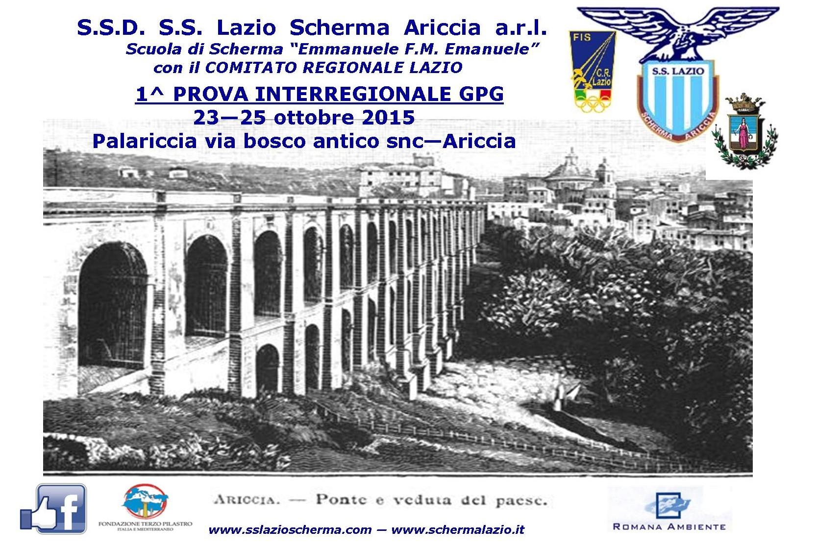 1^ PROVA INTERREGIONALE GPG – ARICCIA 23-25 OTTOBRE 2015