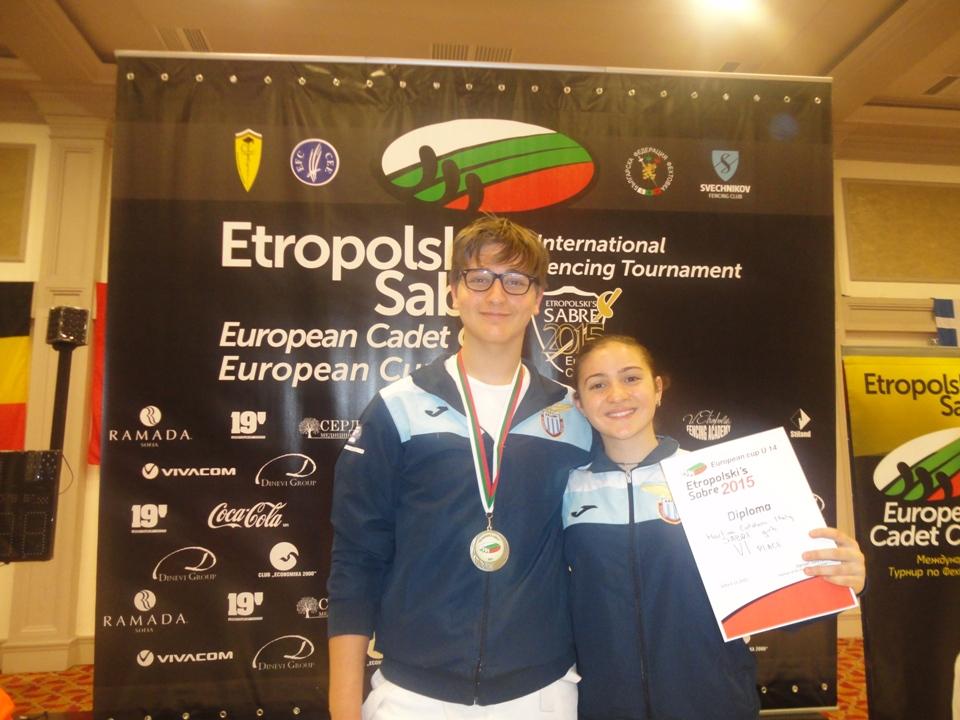 ADRIANO GATTI E MARTINA COTOLONI: OTTIMA PRESTAZIONE A SÒFIA – ETROPOLSKY'S SABRE – INTERNATIONAL FENCING TOURNAMENT