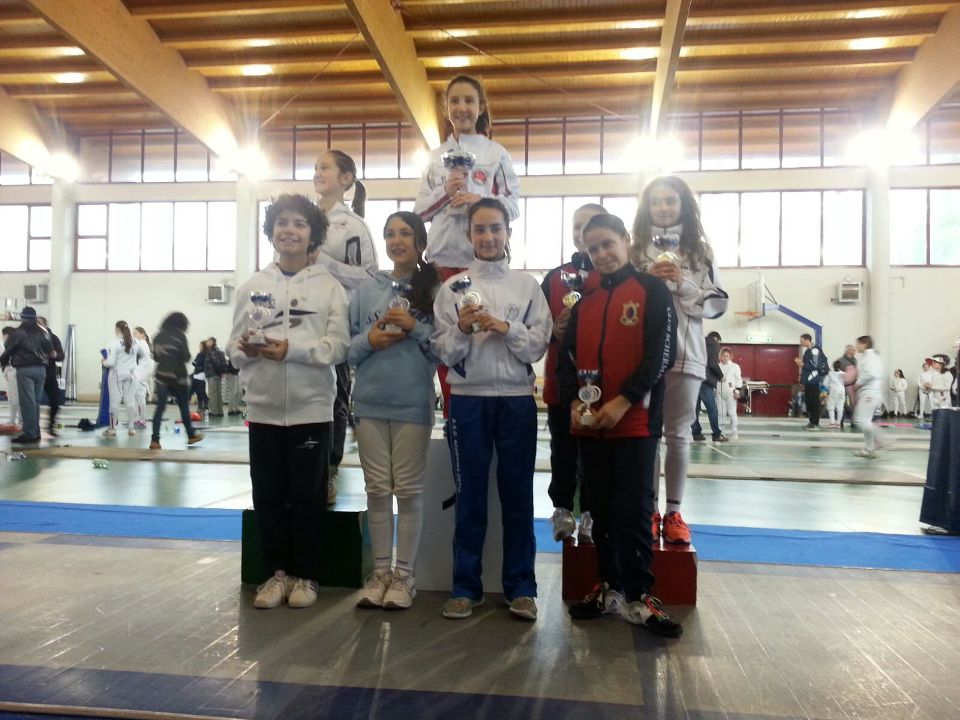 06.01.2016 Roma  2^ prova interregionale Under 14 - spada Chiara Valdiserri 6^ classificata