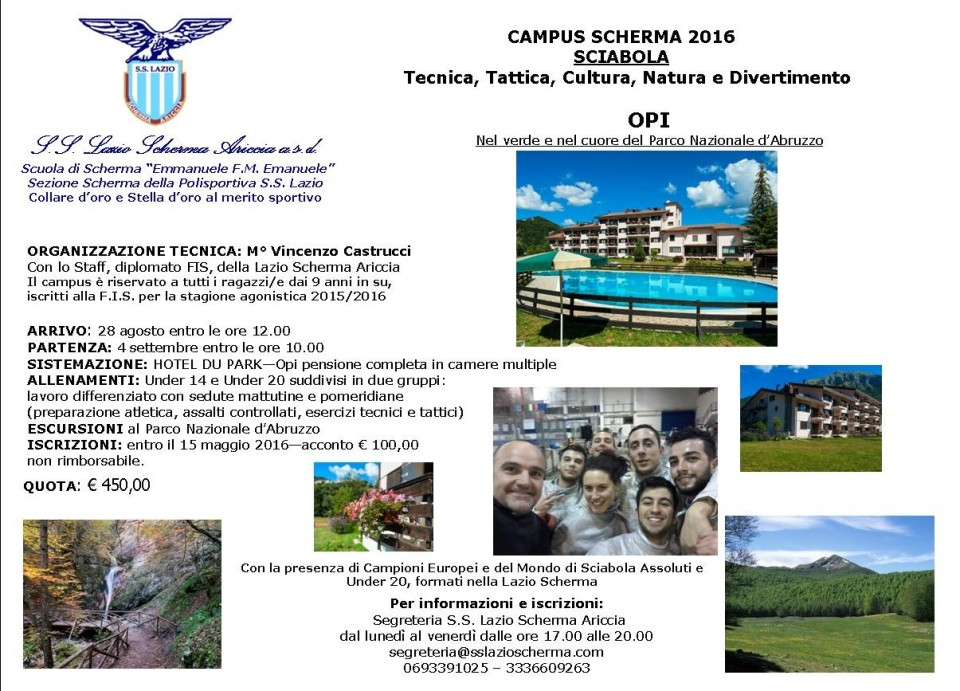 lazio-scherma-summer-fencing-camp