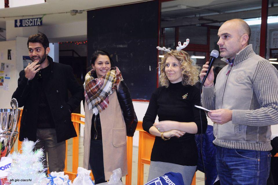 22 dicembre 2016 Enrico Berrè. Chiara Conti (Lanuvium Viaggi), Gina e Vincenzo (foto G.Ciacchi)