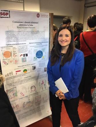 """la scienza nella pratica giornalistica"""" dell'Università Sapienza e io ho discusso una fiaba totalmente scritta da me sui disturbi del comportamento alimentare."""
