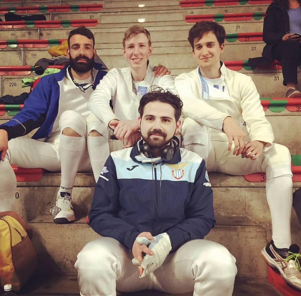 Foligno Serie C2  Spada Maschile Tullio De Santis, Michale Thomas Sica, Alessio Neri e Michael Borro