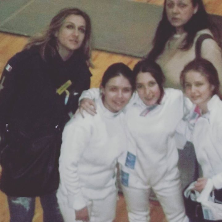 Cassino 19 febbraio 2017 2^ prova interregionale GPG Spada Elisabetta e Roberta Castrucci con Alice, Chiara e Giulia (foto Valdiserri)