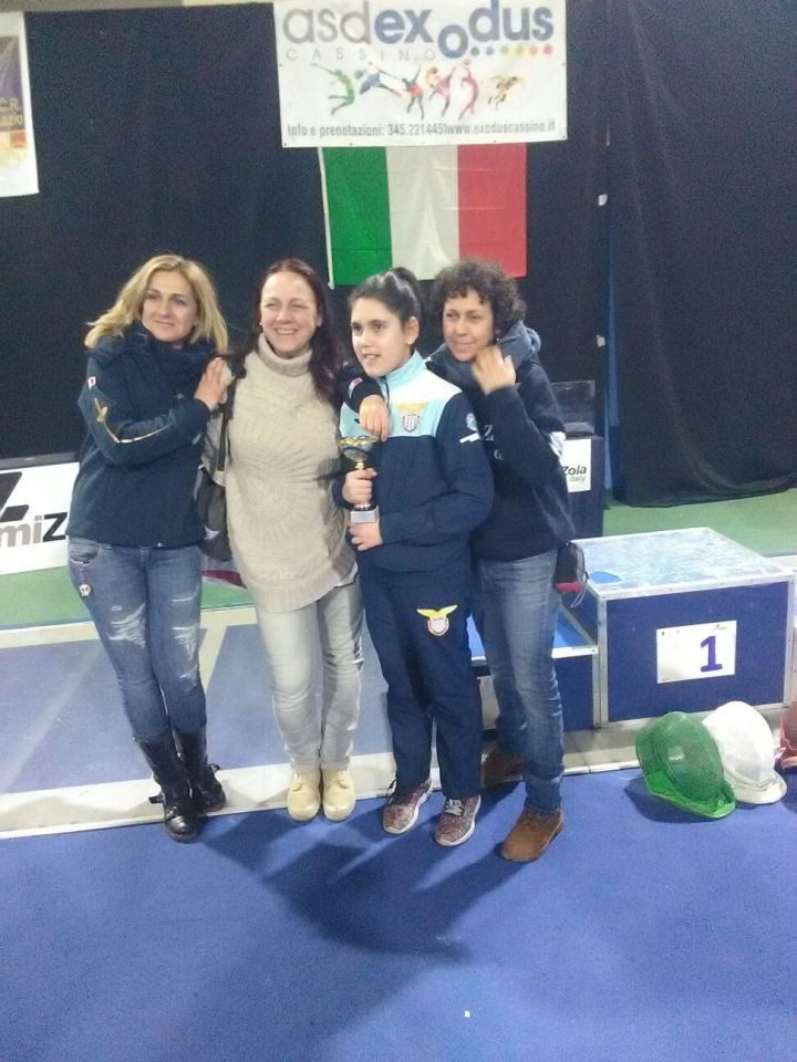 Cassino 19 febbraio 2017 2^ prova interregionale GPG Spada Elisabetta e Roberta Castrucci, Giovana Ciacchi con Martina (foto Valdiserri)
