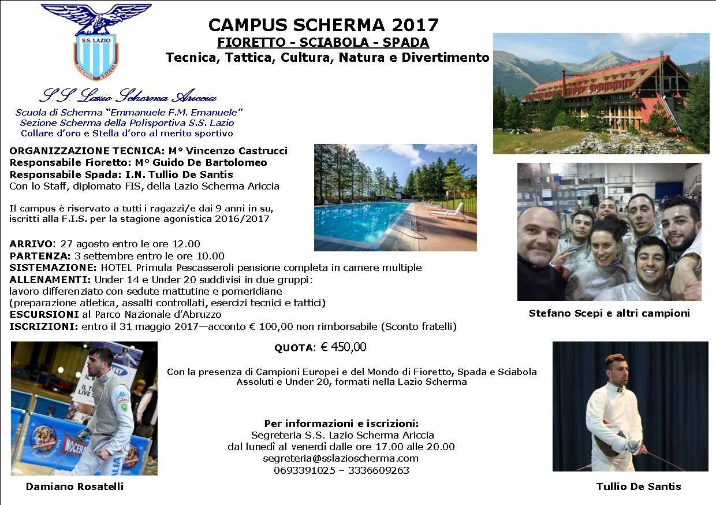 Campus Scherma S.S. Lazio 2017