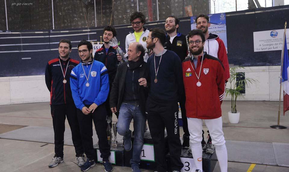 23 aprile 2017 Palariccia 6^ prova nazionale master  Fioretto maschile cat. 0 (foto G.Ciacchi)