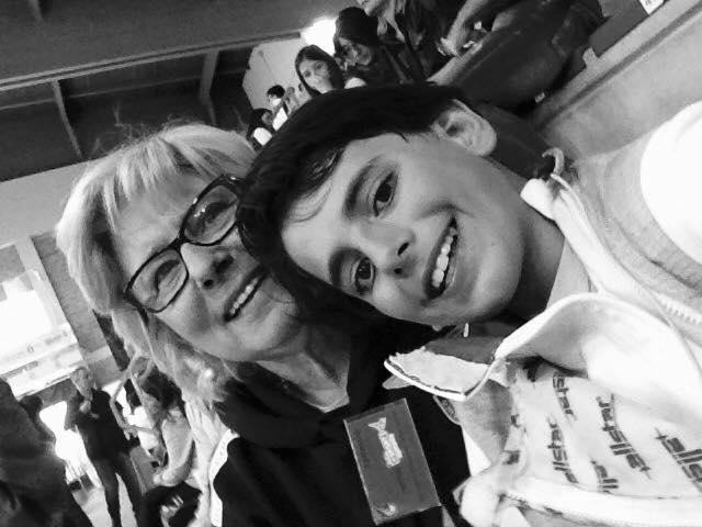 27.04.2017 Riccione Gran Premio Giovanissimi Selfie di Matilde Lerro e Ludovico Cicconi