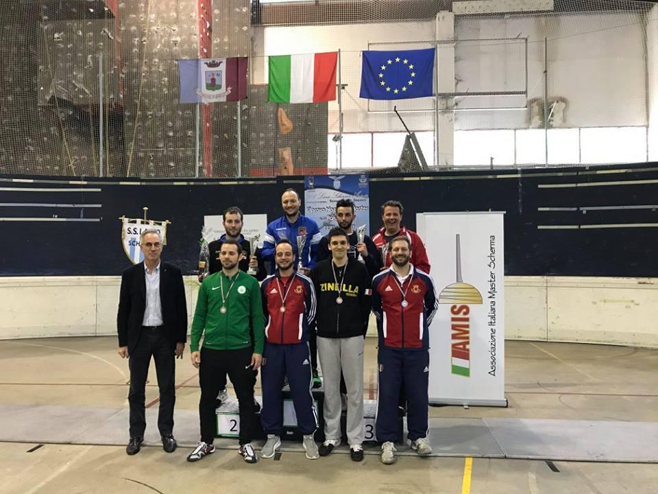 23 aprile 2017 Palariccia 6^ prova nazionale master  Sciabola maschile cat. 0 (foto C.Alfano)