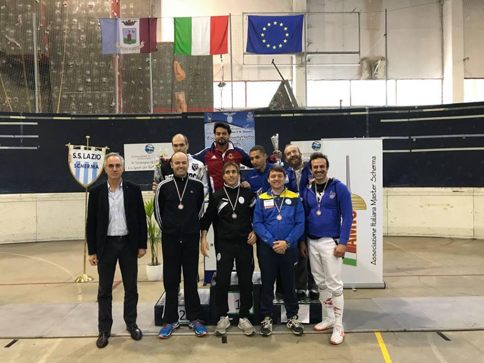 23 aprile 2017 Palariccia 6^ prova nazionale master  Sciabola maschile cat. 1 (foto C.Alfano)