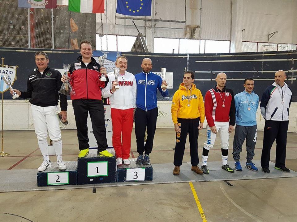 22 aprile 2017 Palariccia 6^ prova nazionale master  Spada maschile cat. 0 (foto C.Alfano)