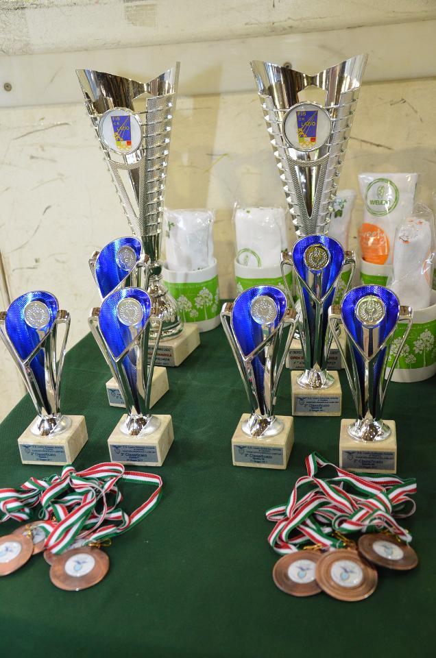 La coppa del vincitore della Finaloissima del Trofeo Lazio, offerta dal Comitato Regionale FIS Lazio e i premi della Lazio Scherma Ariccia