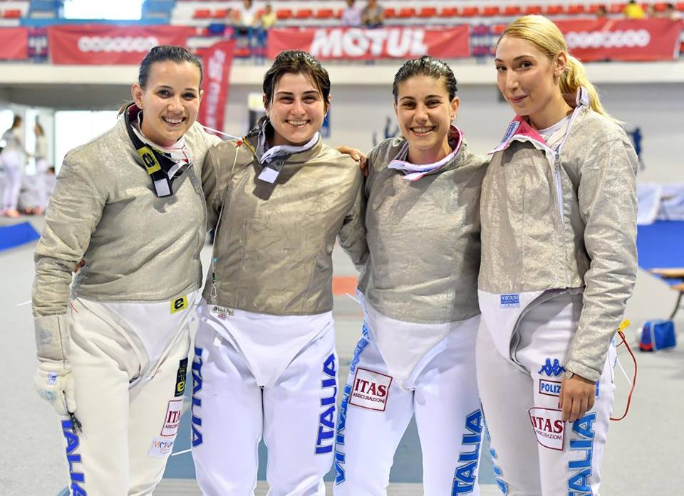 Tunisi 14.05.2017 Irene Vecchi, Martina Criscio, Rossella gregorio e Sofia Ciaraglia (foto Bizzi per FIE)