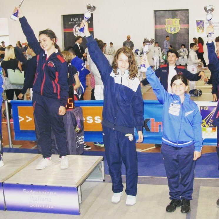 Campionato Regionale Lazio Categoria bambine sciabola