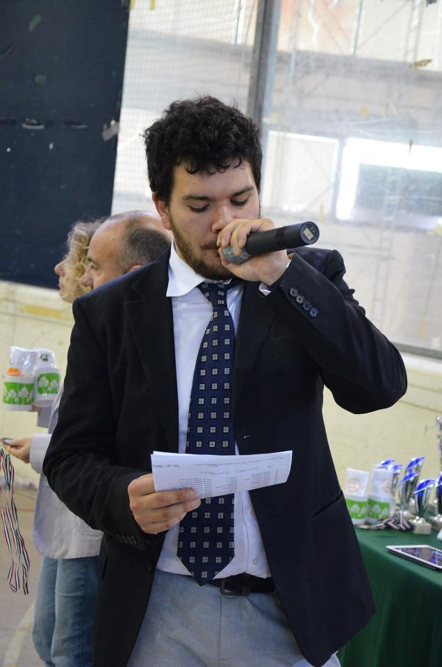 Palariccia 27 maggio 2017  Giacomo Emanuele Di Giulio speaker eccellente durante le premiazioni (fotexpresspvs)
