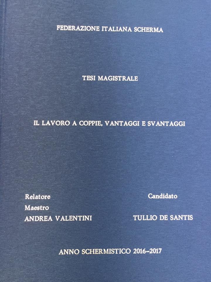 CONGRATULATIONS MASTER TULLIO DE SANTIS!