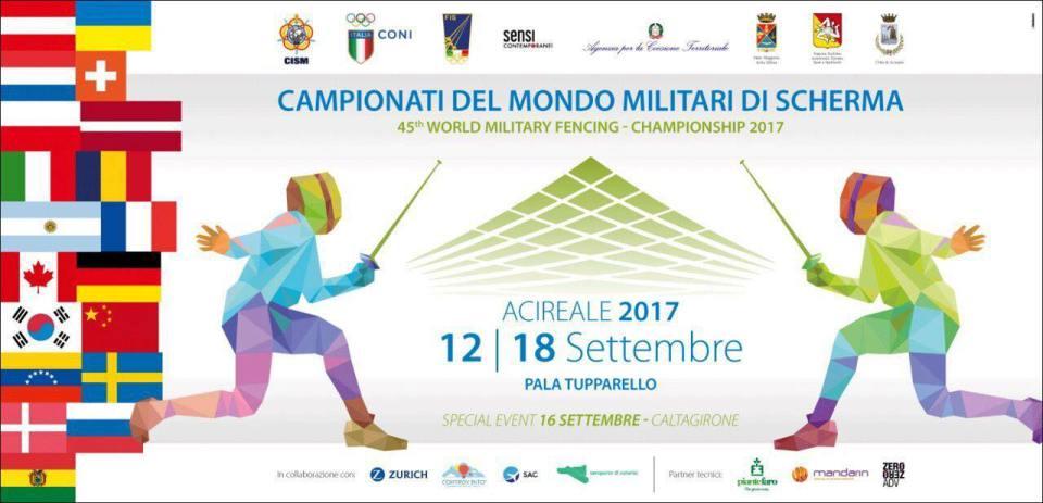 CAMPIONATI DEL MONDO MILITARI DI SCHERMA 2017