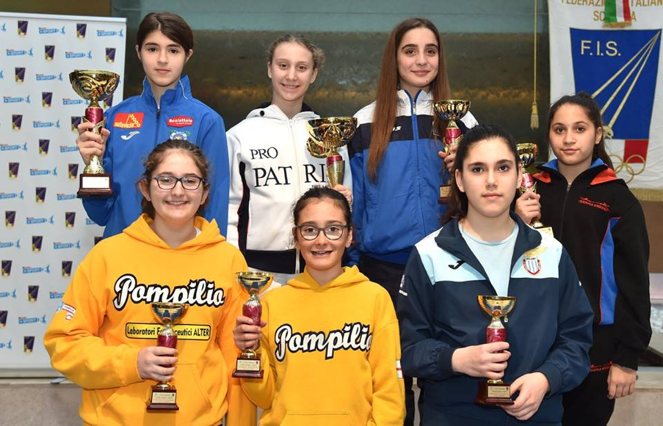 PROVA NAZIONALE U14 SPADA: MARTINA GUERRIERI 8^ CLASSIFICATA
