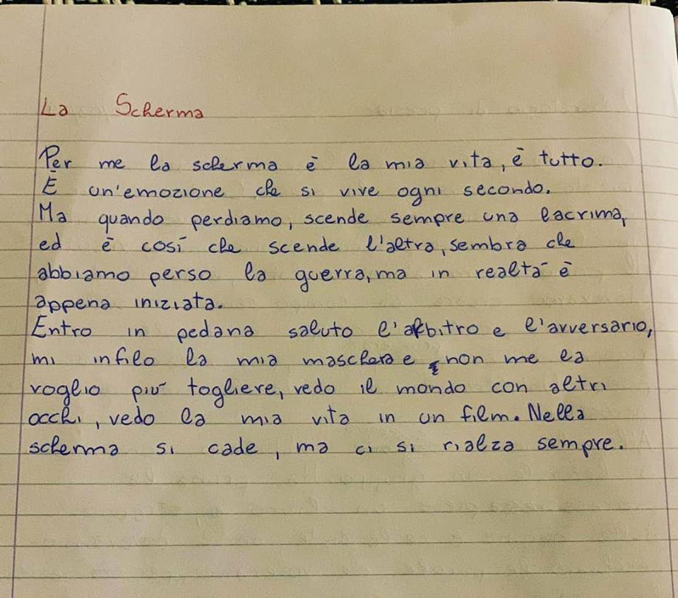 I TALENTI DELLA LAZIO SCHERMA