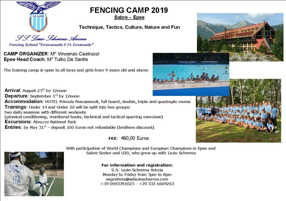 Fencing Camp 2019