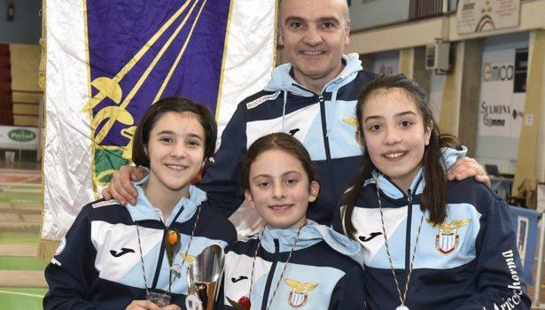BAMBINE/GIOVANISSIME DI SCIABOLA VICECAMPIONI D'ITALIA